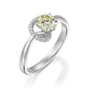 טבעת יהלום מרכזי 0.65