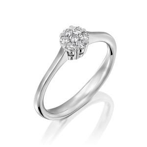 טבעת 7 יהלומים קטנים