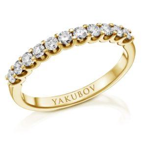 טבעת אבני הדרך יהלומים