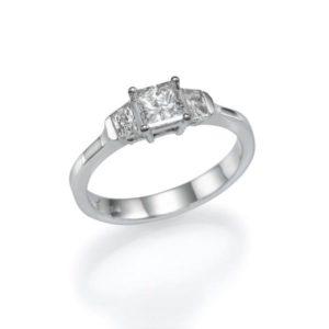 טבעת יהלום מרכזי 0.61