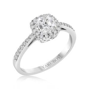 טבעת זהב 14 קראט משובצת זירקונים