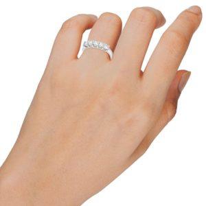 טבעת איטרנטי פרינסס 5 יהלומים