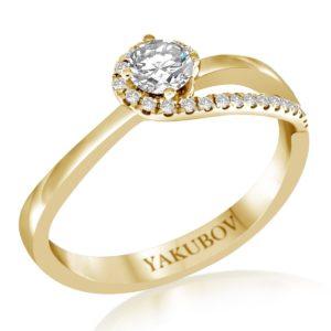 טבעת יהלומים סוליטר 0.27