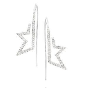 עגילי יהלומים מעוצבים