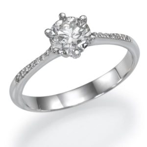 טבעת יהלום סוליטר 0.78