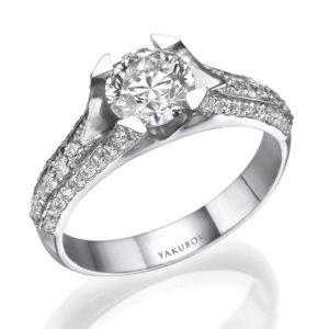 טבעת יהלום מרכזי 1.14