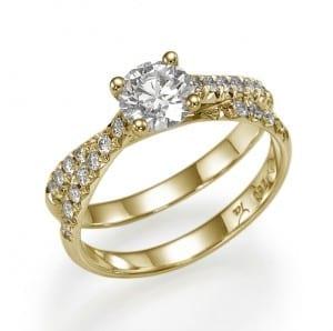 טבעת יהלום מרכזי 0.76
