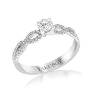 טבעת יהלומים סוליטר 0.26