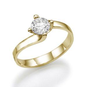 טבעת יהלום מרכזי 0.62