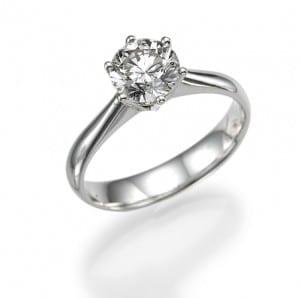 טבעת יהלום סוליטר 1.41