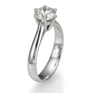 טבעת יהלום מרכזי 0.80