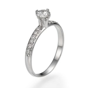 טבעת אירוסין יהלום 0.16