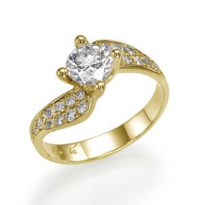 טבעת יהלום מרכזי 0.54