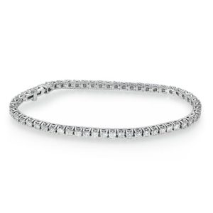 צמיד טניס זהב לבן בשיבוץ יהלומים 0.94 קראט