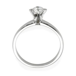טבעת אירוסין חלקה 0.17