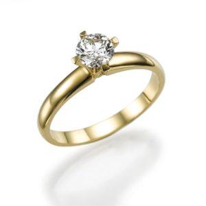 טבעת יהלום מרכזית 0.17