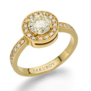 טבעת יהלום מרכזי 0.77