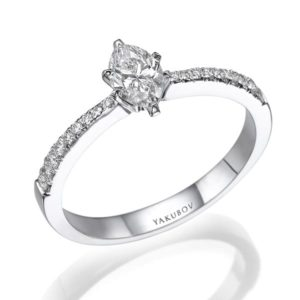 """טבעת יהלום מרכזי"""""""" 0.51"""