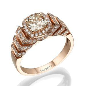 טבעת יהלום מרכזי 0.82