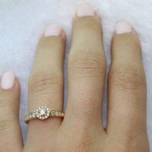 טבעת מרכז היהלום 0.20
