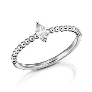 טבעת מרקיזה יהלום 0.12