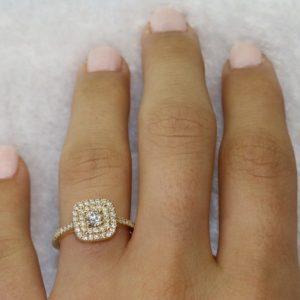 טבעת יהלומים המלכה – 0.75 קראט