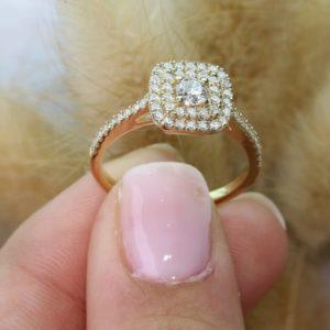 טבעת המלכה יהלומים 0.20