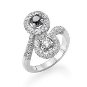 טבעת יהלום מרכזי 0.18