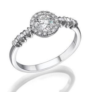 טבעת יהלום מרכזי 0.51