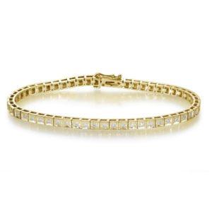 צמיד טניס זהב צהוב בשיבוץ יהלומים 1.32 קראט