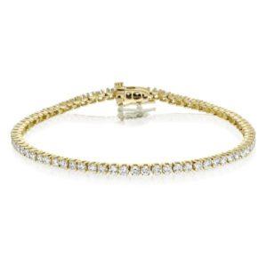 צמיד טניס יהלומים 2.90 קראט זהב לבן