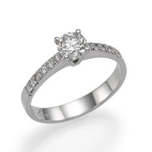 טבעת אירוסין יהלום 0.32