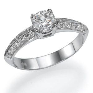טבעת יהלומים סוליטר 0.70