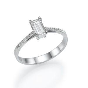 טבעת אירוסין מעוצבת 0.42