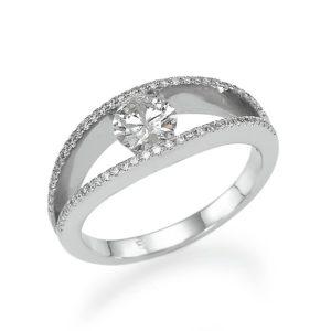 """טבעת יהלום מרכזי"""""""" 0.28"""