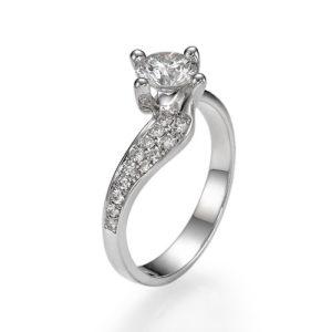 טבעת אירוסין טוויסט יהלום 0.54