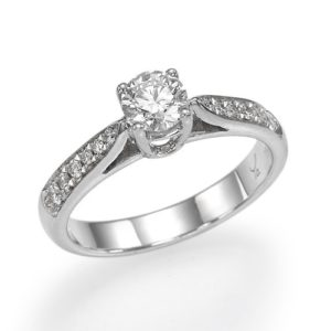 טבעת אירוסין סוליטר 0.90