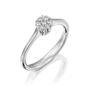 טבעת 7 יהלומים – 0.20 קראט