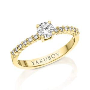 טבעת אירוסין יהלום 0.34
