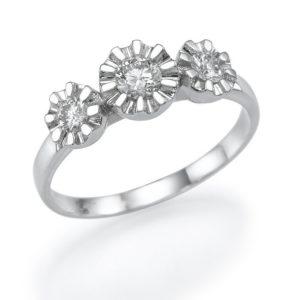 טבעת יהלום מרכזי 0.22