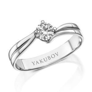 טבעת אירוסין יהלום 0.30