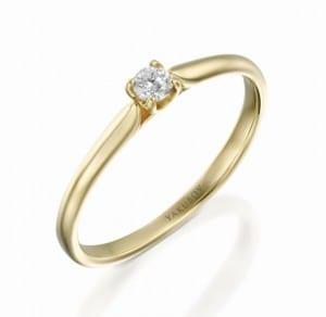 טבעת יהלום מרכזי 0.13