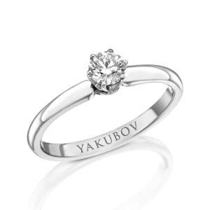 טבעת אירוסין יהלום 0.33