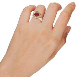 טבעת יהלום מרכזי 2.00