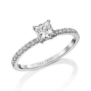 טבעת אירוסין פרינסס יהלום 0.32