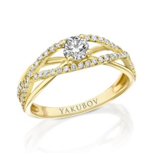 """טבעת יהלום מרכזי"""""""" 0.32"""