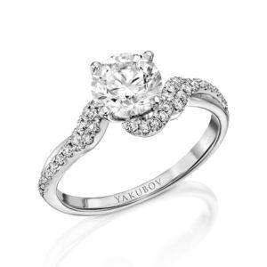 טבעת אירוסין טוויסט יהלום 1.19