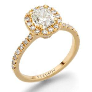 טבעת יהלום מרכזי 1.01