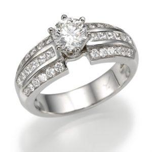 טבעת יהלום מרכזי 0.85