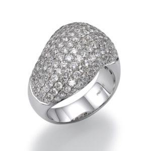 טבעת יהלומים קטנים